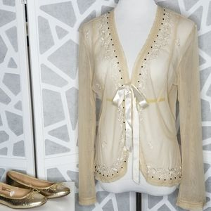 NEW YORK & CO Sheer Ivory Jacket Cover Size XL